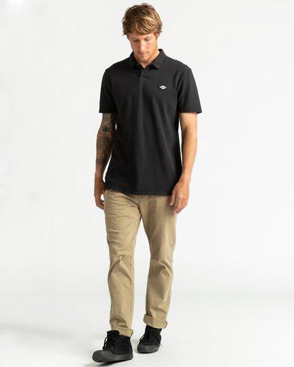 4 Skooled Polo Pique - Camiseta para Hombre Negro U1JE09BIF0 Billabong