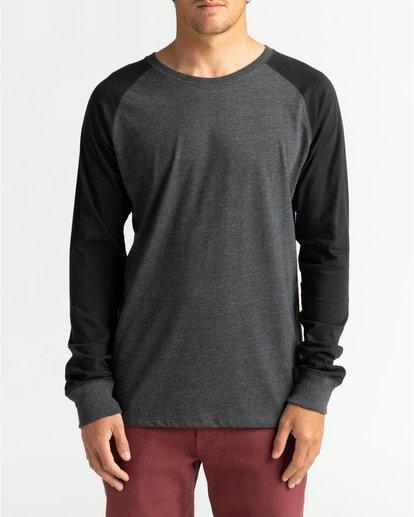 2 Balance Raglan - T-shirt manches longues pour Homme Noir U1JE10BIF0 Billabong