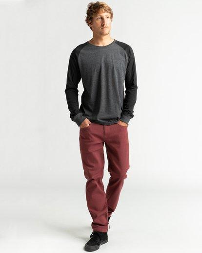 4 Balance Raglan - T-shirt manches longues pour Homme Noir U1JE10BIF0 Billabong
