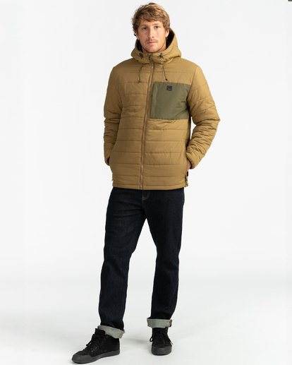 8 Adventure Division Collection Journey - Chaqueta Acolchada para Hombre Beige U1JK30BIF0 Billabong