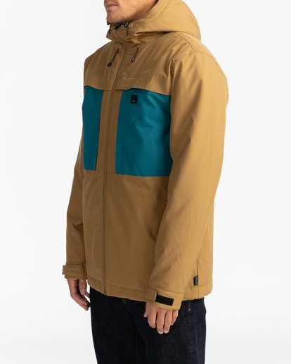 4 Adventure Division Collection Cliff Stretch 10K - 10K Waterproof Jacket for Men Beige U1JK34BIF0 Billabong