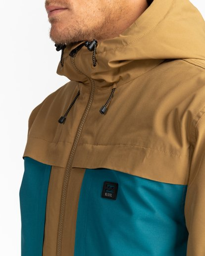 5 Adventure Division Collection Cliff Stretch 10K - 10K Waterproof Jacket for Men Beige U1JK34BIF0 Billabong