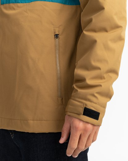 6 Adventure Division Collection Cliff Stretch 10K - 10K Waterproof Jacket for Men Beige U1JK34BIF0 Billabong
