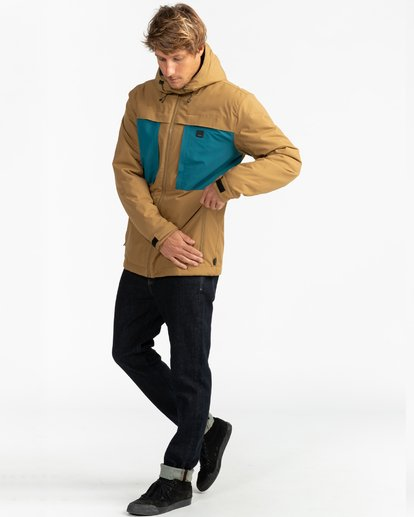 9 Adventure Division Collection Cliff Stretch 10K - 10K Waterproof Jacket for Men Beige U1JK34BIF0 Billabong