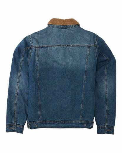 6 Barlow - Trucker Jacket for Men Blue U1JK46BIF0 Billabong