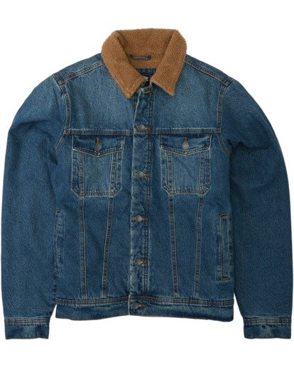 5 Barlow - Trucker Jacket for Men Blue U1JK46BIF0 Billabong
