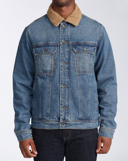 0 Barlow - Trucker Jacket for Men Blue U1JK46BIF0 Billabong