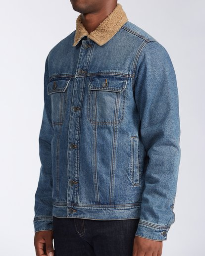 2 Barlow - Trucker Jacket for Men Blue U1JK46BIF0 Billabong