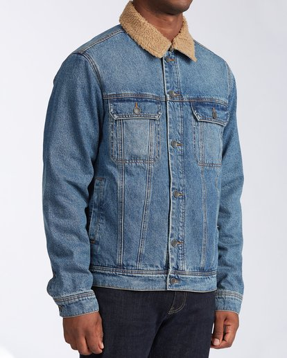 3 Barlow - Trucker Jacket for Men Blue U1JK46BIF0 Billabong
