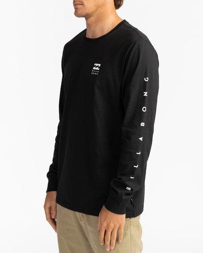 3 Unity - Camiseta de manga larga para Hombre Negro U1LS15BIF0 Billabong