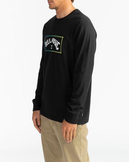 3 Arch - Camiseta de manga larga para Hombre Negro U1LS16BIF0 Billabong