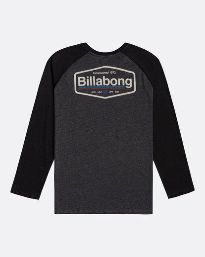 1 Montana - Camiseta de manga larga para Hombre Negro U1LS18BIF0 Billabong