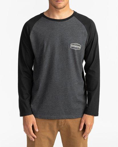 2 Montana - T-shirt manches longues pour Homme Noir U1LS18BIF0 Billabong