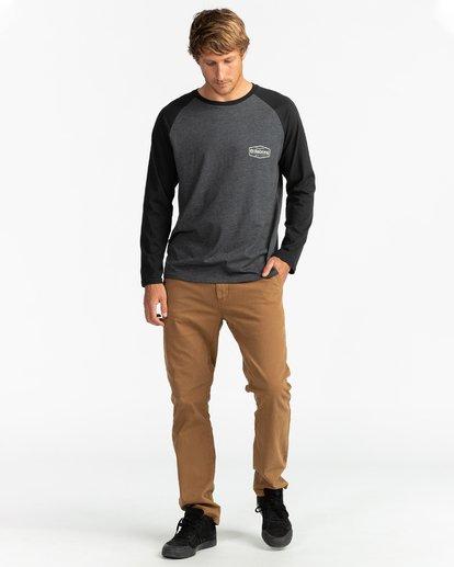 4 Montana - Camiseta de manga larga para Hombre Negro U1LS18BIF0 Billabong