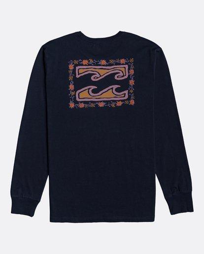 4 Crayon Wave - T-shirt manches longues pour Homme Bleu U1LS26BIF0 Billabong