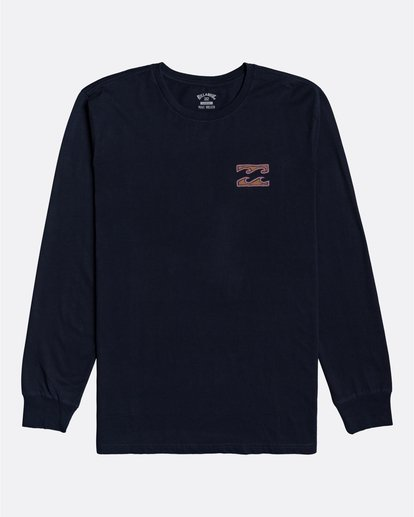 3 Crayon Wave - T-shirt manches longues pour Homme Bleu U1LS26BIF0 Billabong