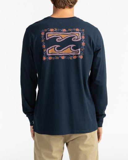 1 Crayon Wave - T-shirt manches longues pour Homme Bleu U1LS26BIF0 Billabong