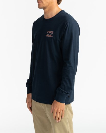 2 Crayon Wave - T-shirt manches longues pour Homme Bleu U1LS26BIF0 Billabong