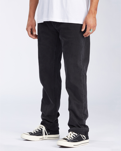 3 73 Jean - Vaqueros de corte ajustado para Hombre Negro U1PN01BIF0 Billabong
