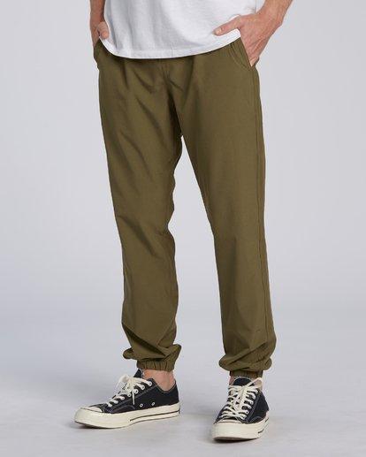 3 Adventure Division Collection Transport - Pantalon avec taille élastique pour Homme  U1PT03BIF0 Billabong