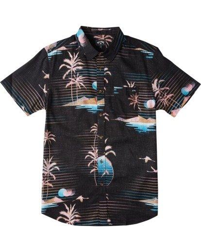 3 Sundays Floral - Short Sleeve Shirt for Men Black U1SH05BIF0 Billabong