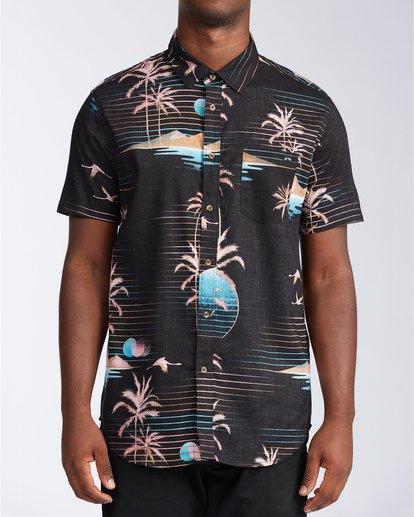 0 Sundays Floral - Short Sleeve Shirt for Men Black U1SH05BIF0 Billabong