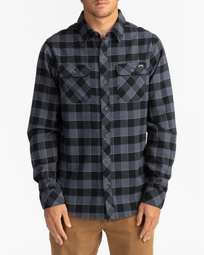 2 All Day Flannel - Camisa de manga larga para Hombre Negro U1SH10BIF0 Billabong