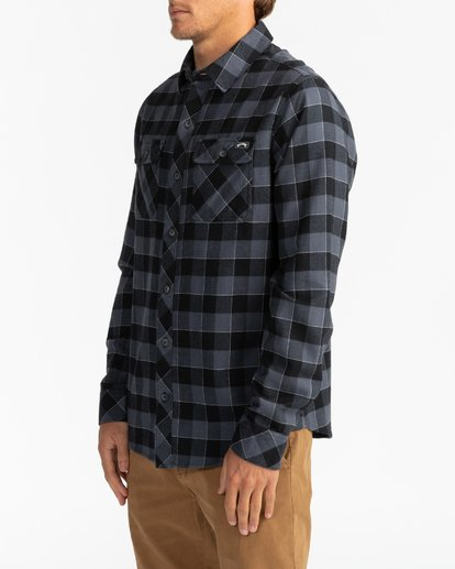 3 All Day Flannel - Camisa de manga larga para Hombre Negro U1SH10BIF0 Billabong