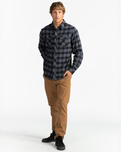 4 All Day Flannel - Camisa de manga larga para Hombre Negro U1SH10BIF0 Billabong