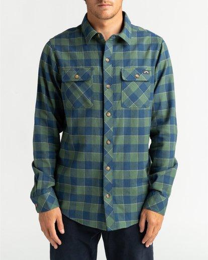 2 All Day Flannel - Camisa de manga larga para Hombre Verde U1SH10BIF0 Billabong