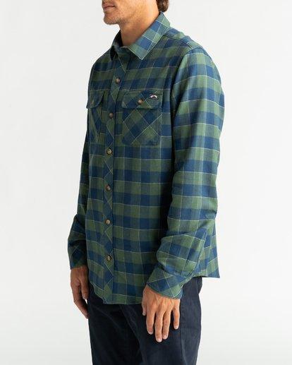 3 All Day Flannel - Camisa de manga larga para Hombre Verde U1SH10BIF0 Billabong