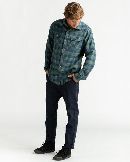 4 All Day Flannel - Camisa de manga larga para Hombre Verde U1SH10BIF0 Billabong