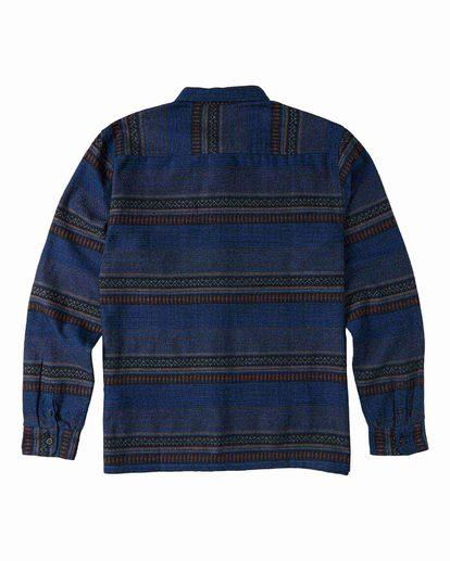 5 Desert Seas Jacquard - Langärmliges Hemd für Männer Blau U1SH13BIF0 Billabong