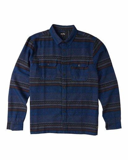 4 Desert Seas Jacquard - Langärmliges Hemd für Männer Blau U1SH13BIF0 Billabong