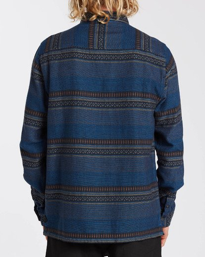 1 Desert Seas Jacquard - Camisa de manga larga para Hombre Azul U1SH13BIF0 Billabong