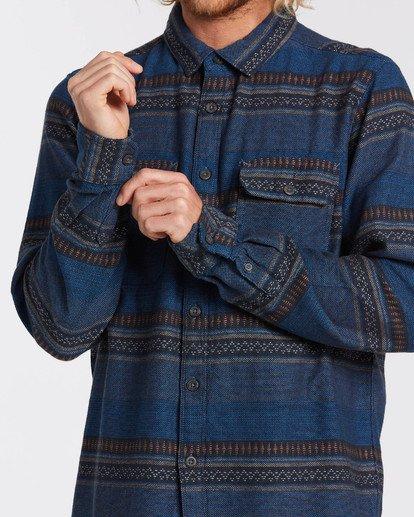 3 Desert Seas Jacquard - Langärmliges Hemd für Männer Blau U1SH13BIF0 Billabong