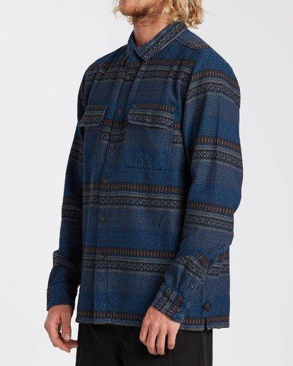 2 Desert Seas Jacquard - Camisa de manga larga para Hombre Azul U1SH13BIF0 Billabong