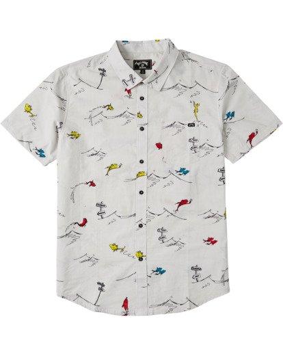3 Dr Seuss One Fish Two Fish - Camisa de manga corta para Hombre Blanco U1SH21BIF0 Billabong