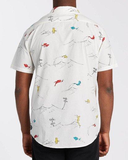 1 Dr Seuss One Fish Two Fish - Kurzärmliges Hemd für Männer Weiss U1SH21BIF0 Billabong