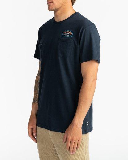 3 Double Ware - T-Shirt für Männer Blau U1SS11BIF0 Billabong