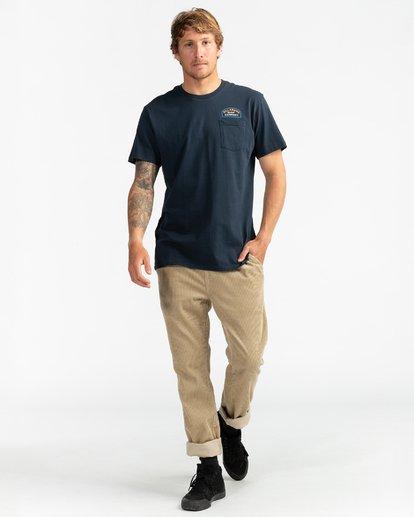 4 Double Ware - T-Shirt für Männer Blau U1SS11BIF0 Billabong