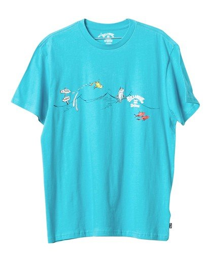 3 Dr Seuss One Fish Two Fish - Camiseta para Hombre  U1SS2BBIF0 Billabong