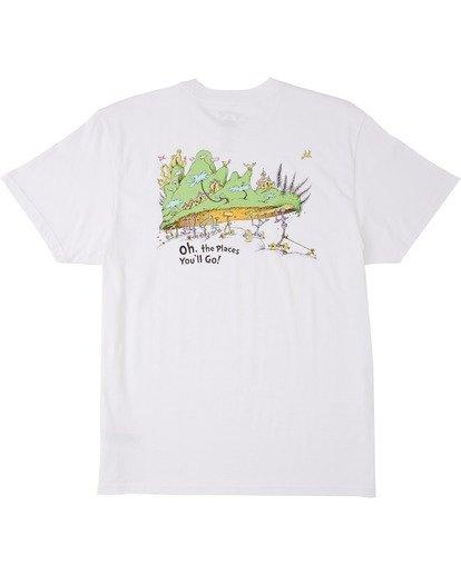 4 Dr Seuss On The Places You'Ll Go - T-shirt pour Homme Blanc U1SS2CBIF0 Billabong