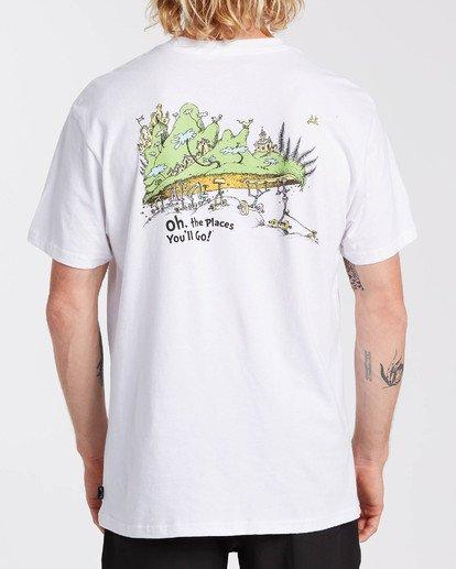 1 Dr Seuss On The Places You'Ll Go - T-shirt pour Homme Blanc U1SS2CBIF0 Billabong