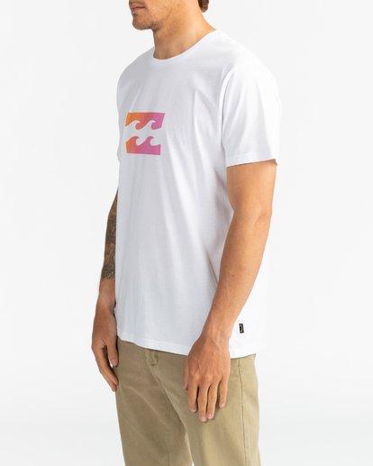 3 Team Wave - Camiseta para Hombre Blanco U1SS51BIF0 Billabong