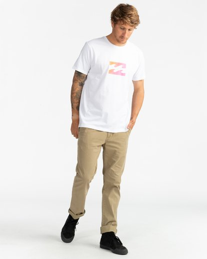 4 Team Wave - Camiseta para Hombre Blanco U1SS51BIF0 Billabong