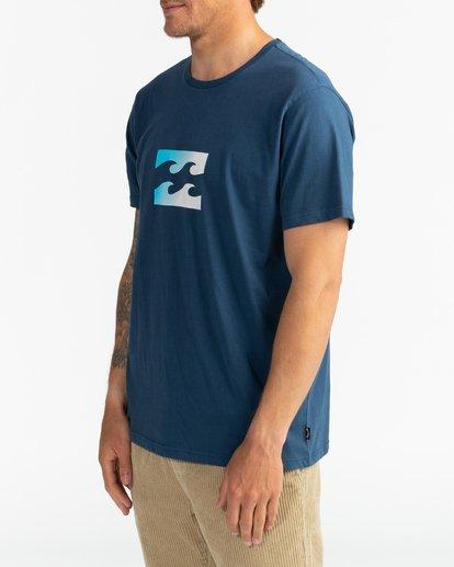 3 Team Wave - Camiseta para Hombre Azul U1SS51BIF0 Billabong