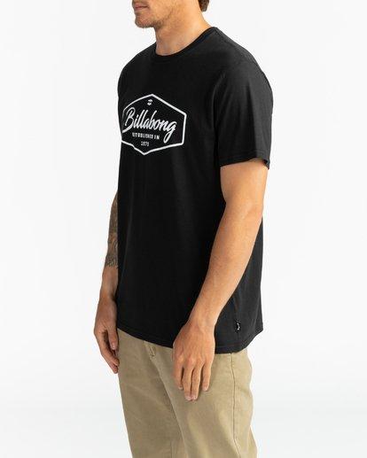 3 Trademark - Camiseta para Hombre Negro U1SS53BIF0 Billabong