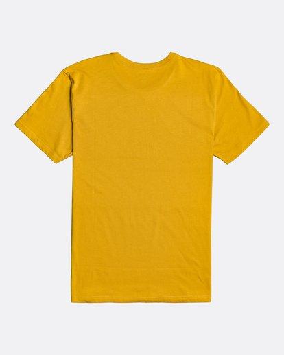 1 Unity Stacked - Camiseta para Hombre Amarillo U1SS56BIF0 Billabong