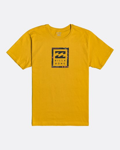 0 Unity Stacked - Camiseta para Hombre Amarillo U1SS56BIF0 Billabong
